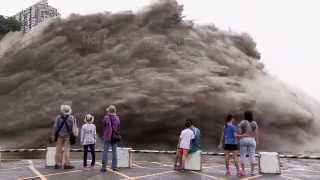 Download Typhoon Dujuan Controlled Flood Water Release Video