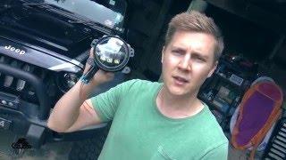 Download J.W. Speaker 6145 LED fog lights vs stock - test, install, soldering and wiring on Jeep JK Video