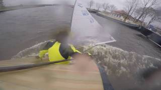 Download Finn sailing in 50 knots of wind! Video