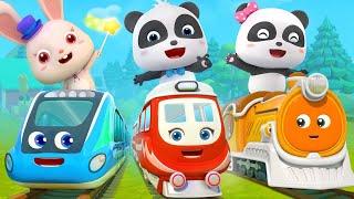 Download Super Panda and Super Train   Thomas Train   Nursery Rhymes   Kids Songs   BabyBus Video