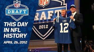 Download Colts Draft Andrew Luck First Overall in 2012 NFL Draft | This Day in NFL History (4/26) Video