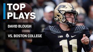 Download Top Plays: David Blough vs. Boston College Eagles   Purdue   Big Ten Football Video