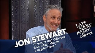 Download Jon Stewart Ribs Stephen For His Recent Language Video