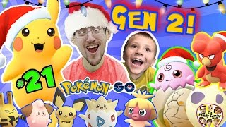 Download CHRISTMAS POKEMON GO 🎅 FGTEEV Gen 2 Eggs Hatching Surprise! Elekid, Pichu, Togepi, Magby ++🎄#21 | Video