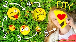 Download 5 DIY Emoji Projects – DIY Emoji Pencil Case, Notepad, Earrings, Wall Clock and Pocket Mirror Video