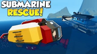 Download SINKING SHIP SUBMARINE RESCUE! - Stormworks: Build and Rescue Multiplayer Gameplay - Ship Survival Video