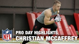Download Christian McCaffrey Pro Day Highlights & Bucky Brooks Analysis | NFL | Path to the Draft Video