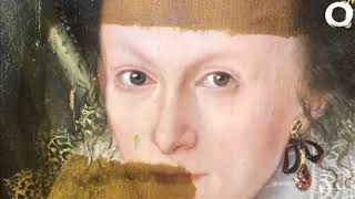 Download Art Expert Removes 200 Year old painting Video
