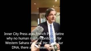 Download ICP asks French PR Delattre why no human rights in Western Sahara mission. He: it's in our DNA Video
