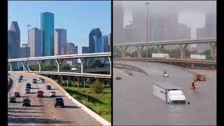 Download Houston (Texas) 2017 - Before and After Hurricane Harvey Flooding Video