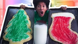 Download DIY GIANT CHRISTMAS COOKIES AND MILK!!! Video