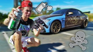 Download SPRAY PAINTING My Friend's $80,000 CAR! Video