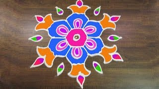 Download #289 - Sankranthi Muggulu | 9 to 5 Interlaced Dots | Easy Rangoli Designs Rangavalli by Sunitha Video