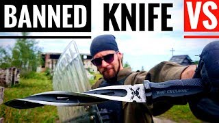 Download BANNED KNIFE (M48 Cyclone) VS Riot Shield, Kevlar Vest (Extreme Penetration Test) Video