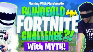 Download PLAYING FORTNITE BLINDFOLDED?! w/ MYTH | Gaming with Marshmello Video