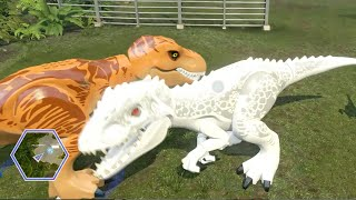 Download Lego Jurassic World - ALL DINOSAURS UNLOCKED & USED! ( Free Roam GamePlay ) Video
