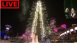 Download Burj Khalifa fireworks captured from best possible spot | 2017 Video