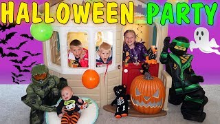 Download Costume Party & Spooky Haunted House Halloween Skit Video