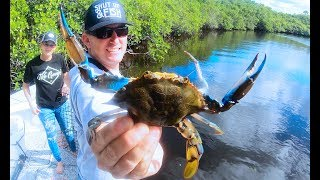 Download Giant Blue Crabs {Catch Clean Cook} STEAMED on the GRILL! Video