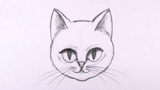 Download How to Draw a Cat Face in Pencil - Drawing Lesson - MAT Video