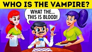 Download Who Is The Vampire? 🧛 17 Riddles For Vampire Experts Only Video