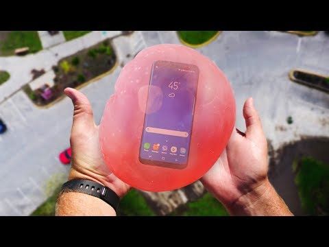 Can Wubble Bubble w/ Water Protect Galaxy S8 from 100FT Drop Test?