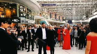 Download Best Marriage Proposal Ever | Flash Mob Surprise Orchestra Waterloo Station Engagement Video