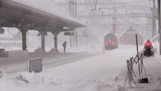 Download SBB snowtime in Göschenen-Gotthard-Switzerland Video
