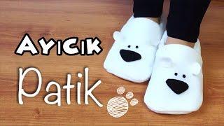 Download DIY- AYICIK PATİK - HOW TO MAKE POLAR BEAR SLIPPERS Video