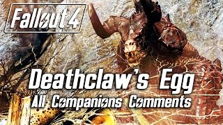 Download Fallout 4 - Returning the Deathclaw's egg - All Companions Comments Video