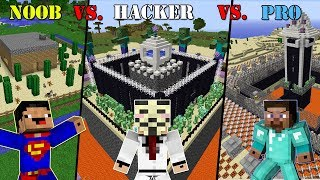 Download Minecraft NOOB vs. HACKER vs. PRO: SECURE BASE CHALLENGE in Minecraft Video