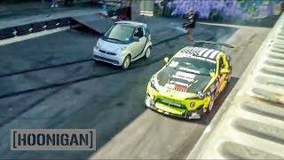 Download [HOONIGAN] DT 077: Scion FR-S Race Car VS Smart Car #SPACERACE Video