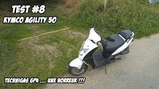 Download TEST 8 : KYMCO Agility 4T 50cc - ULTRA CHEAP !!! - POT TECHNIGAS GP4 Video