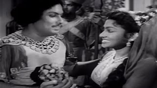 Download Best Scene - Dasan Gets The Rare Flower - Starring M.G.R, T. R. Rajakumari - Gulebakavali Video
