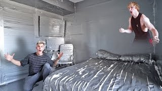 Download I DUCT TAPED MY BROTHERS ENTIRE ROOM **PRANK WARS LOGAN VS. JAKE** Video