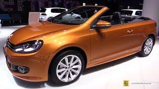 Download 2016 Volkswagen Golf Cabriolet TSI - Exterior and Interior Walkaround - 2015 Frankfurt Motor Show Video