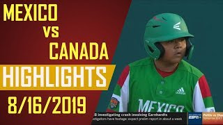 Download Little League World Series 2019 - Mexico vs Canada Highlights | LLWS 2019 Video