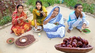 Download Village Style Mouthwatering Sukno Kul Makha Recipe prepared by Grandmother Video