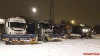 Download Snow Plow Convoy Clearing The Highway + Cab View Video