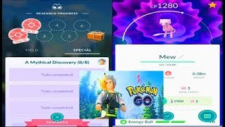 Download Pokemon Go Road to Mew - All Mythical Discovery Quests & Tasks Video