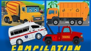 Download COMPILATION | Cars And Heavy Vehicles | kids videos | learn street vehicles Video