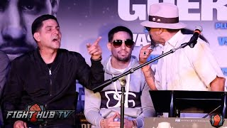 Download Ruben Guerrero almost fights Angel Garcia on stage at Garcia vs. Guerrero press conference Video