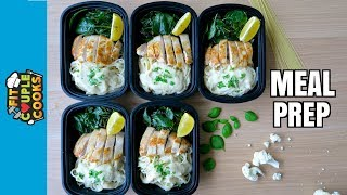 Download CHICKEN ALFREDO MEAL PREP (w. VEGAN OPTION) Video