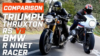 Download Triumph VS BMW - Triumph Thruxton RS VS BMW R NineT Racer | Visordown Video