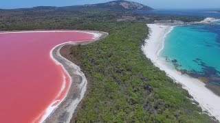 Download Pink ″Lake Hillier″, Middle Island with Esperance Island Cruises Video
