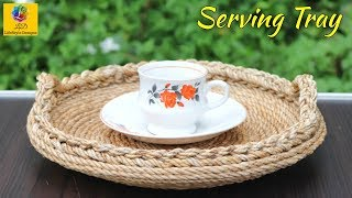 Download How to Make Serving Tray Using Jute Rope and Broken Plate | Jute Rope Craft Idea Video