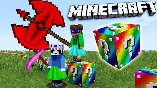 Download NE-A BATUT CU CELE MAI OP ITEME!! - Minecraft RAINBOW LUCKY BLOCK RACE Video