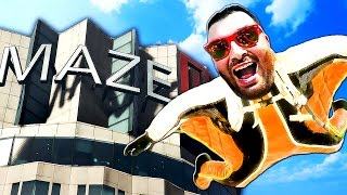 Download GTA 5 NEW GAME MODE | WINGSUITING THROUGH MAZE BANK!! - GTA 5 Online (GTA 5 Funny Moments & Fails) Video