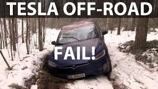 Download Tesla Model X winter off-roading Video