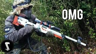 Download Guy Brings Airsoft AWP Asiimov and QUICKSCOPES PLAYERS!! Video